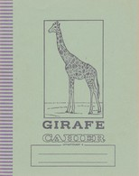 CAHIER D'ECOLIER : GIRAFE - Animaux