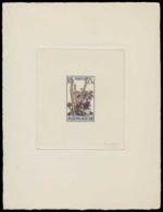 MADAGASCAR Epreuves  322 Epreuve D'artiste En Noir Aquarellée, Signée: Cactus Et Fleurs. - Madagascar (1889-1960)