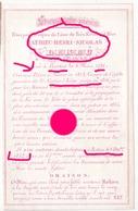Abbé Mathieu Lekeu  Battice 1786 - 1852 Fut Vicaire à St Nicolas Liège Puis Missionnaire / Sur Papier Porcelaine  / RARE - Décès