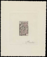 MADAGASCAR Epreuves  334 Epreuve D'artiste En Bicolore, Signée: La Vanille. - Madagascar (1889-1960)