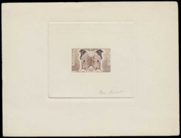 MADAGASCAR Epreuves  343 Epreuve D'artiste En Brun, Signée: Papillon Salamis. - Madagascar (1889-1960)