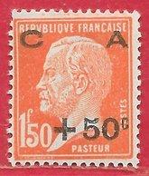 France N°248 Caisse D'amortissement 1F50+50c Rouge-orange 1927 ** - Neufs