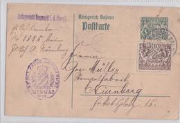 NEUMARKT KÖNIGREICH BAYERN POSTKARTE 19.11.1918 NÜRNBERG AMSTGERICHT GEZAHLT - Bavaria