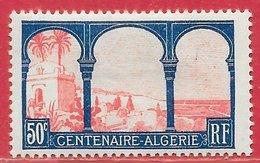 France N°263 Alger 50c Bleu & Rose 1930 * - Neufs