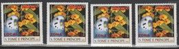 Sao S. Tomé & Principe 2009 Mi. 3982I - 3988I Oiseaux Birds Vögel Perroquet Parrot Papagei 4 Val. Faune Fauna - Parrots