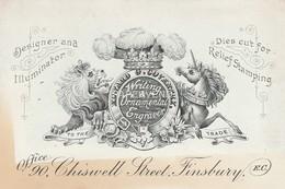 Trade Card  E.Coventry Writing & Ornamental Engraver Finsbury  LONDON  Etc32 - Trade Cards