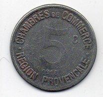 1918 Chambres De Commerce Provençales 5 Centimes - Monétaires / De Nécessité