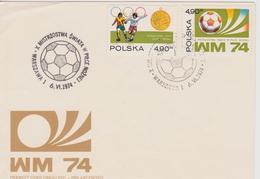 FDC POLOGNE COUPE DU MONDE DE FOOTBALL 1974 - Coupe Du Monde