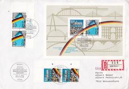 1990 - Deutschland FDC Mi. Block 22 - 1. Jahrestag Der Öffnung Der Innerdeutschen Grenzen Und Der Berliner Mauer - FDC: Buste