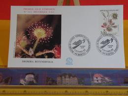 Drosera Rotundifolia - 44 Nantes - 12.9.1992 FDC 1er Jour N°1811 - Coté 3€ - FDC