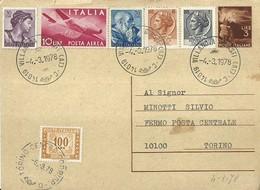 "2617  "" AFFRANCATURA VARIA+TASSA-1978 AFFITTO APPARTAMENTO AL MARE"" CART. POST.  ORIG.  SPED. - 6. 1946-.. Republic"