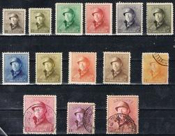DO 6703  BELGIË SCHARNIER + GESTEMPELD OC NRS 165/178 ZIE SCANS - Used Stamps