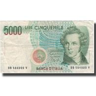 Billet, Italie, 5000 Lire, 1985-01-04, KM:111a, TB - [ 2] 1946-… : République