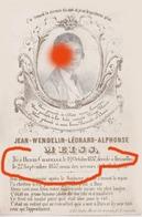Jean MEISS Henri Chapelle 1837 - Bruxelles 1857 Souvenir Imprimé Sur Papier Porcelaine / RARE - Décès