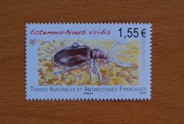 TAAF 2018 FAUNE INSECT NEUF 1 TIMBRES  FSAT FRANCE ANTARCTIC MNH FAUNA - Neufs