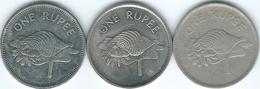 Seychelles - 1 Rupee - 1982 (KM50.1) 1997 (KM50.2) & 2010 (KM50a) - Seychelles