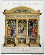 PIA  -  VATICANO - 2006 : 500° Della Morte Di Andrea Mantegna  - Bf - MS   (SAS  Bf 72) - Religione