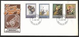 1973 - NEW ZEALAND - FDC + SG 1027/1030 [Hodgkins] + WELLINGTON N.Z. - FDC