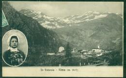 CARTOLINA - CV2244 RIMA (Vercelli VC) In Valsesia, Veduta Panoramica Con Costume, FP, Viaggiata 1910 Per Mollia, - Vercelli