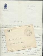 """Lac à Entete Illustrée  , """"escorteur Soudanais """" Ecrite De Port Said , Oblitérée Poste Navale 27/11/1956  Lx3401 - Naval Post"""