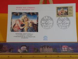 Sandro Botticelli, La Vierge Et L'enfant - 20 Ajaccio - 30.4.1992 FDC 1er Jour N°1796 - Coté 3,50€ - FDC