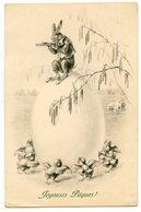 Joyeuses Pâques . Lapin . Happy Easter .  Rabbit . Kaninchen Ostern . M. M. VIENNE - Pâques