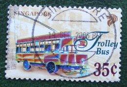 35 C Transportation Verkehrmittel Trolley Bus 1997 Mi 834 YT 802 Used Gebruikt Oblitere SINGAPORE SINGAPUR - Singapur (1959-...)