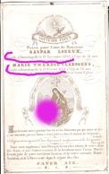 HENRI CHAPELLE Gaspar LONEUX Dcd En 1852 & Son épouse CLAESSENS Dcd En 1854 Sur Papier Porcelaine / RARE - Décès