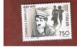ITALIA - UN.1897    - 1989 CHARLES CHAPLIN (CHARLOT)      -  NUOVI **(MINT) - 1981-90:  Nuovi