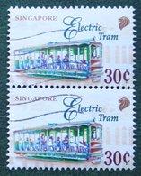 30 C Transportation Verkehrmittel Electric Tram 1997 Mi 833 YT 801 Used Gebruikt Oblitere SINGAPORE SINGAPUR - Singapur (1959-...)