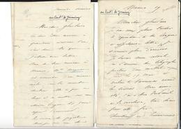 MEXIQUE MEXICO  Colonel Petit  Autographe 5 Lettres 30 P. ( 1 Et Cdv En France ) 1866 - 1867 ( Mexico Apan Puebla - Autógrafos