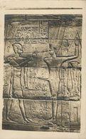 Egypt, LUXOR, Temple Interior Hieroglyphs (1920s) RPPC - Museum