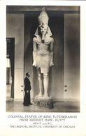 Egypt, Colossal Statue Of King Tutenkhamon From Medinet Habu (1920s) RPPC - Museum