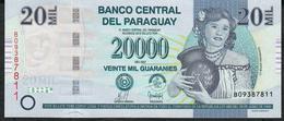 PARAGUAY P230a 20.000 GUARANIES 2007 #B     UNC. - Paraguay