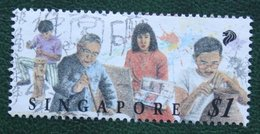 $1 Festival Of Arts Painture Sculpture Potterie 1994 Mi 727  Used Gebruikt Oblitere SINGAPORE SINGAPUR - Singapur (1959-...)
