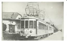 """2621 """" TRAM TORINO-PIANEZZA NEL 1930 """" FOTOCART. POST. NON SPED. - Tramways"""