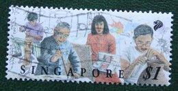 $1 Festival Of Arts Painture Sculpture Potterie 1994 Mi 727 YT 801 Used Gebruikt Oblitere SINGAPORE SINGAPUR - Singapur (1959-...)