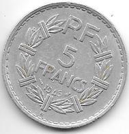 *france  5 Francs  1945 B Km 888b.2  Vf+ - France