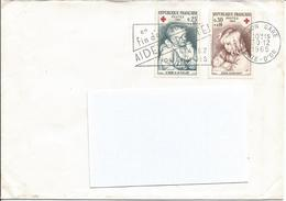 Flamme Aidez La Poste étalez Vos Envoi 1965 Avec Timbre Croix Rouge N°Y&T 1466 (bébé à La Cuiller) &1467 (coco écrivant) - Oblitérations Mécaniques (flammes)