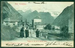 CARTOLINA - CV2248 RIVA VALDOBBIA (Vercelli VC) Vogna Di Là E Il Monte Rosa, FP, Viaggiata Per Mollia, Ottime Condizioni - Vercelli