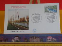 Canal De L'Ourcq - 93 Bondy - 30.5.1992 FDC 1er Jour N°1799 - Coté 2,50€ - FDC