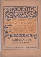 """REVUE  """" DEKORATIVE KUNST """"   N° 4  Janvier 1898 ,,,,REVUE ALLEMANDE D' ART  NOUVEAU D' AVANT GARDE_ - Art"""
