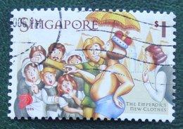 $1 Hans Christian Anderson Tales Children's Story Author 2005 Mi 1404 Used Gebruikt Oblitere SINGAPORE SINGAPUR - Singapur (1959-...)