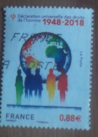 Déclaration Universelle Des Droits De L'homme - France - 2018 - Oblitérés