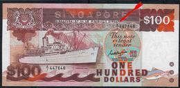 SINGAPORE P23a 100 DOLLARS 1985 Signature 4   FIRST PREFIX A/1 ***RARE***   UNC. - Singapour