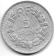 France  5 Francs  1950 B Km 888b.2  Xf - France