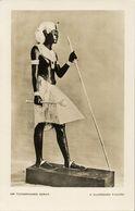 Egypt, Tutankhamen Series, A Guardian Figure (1930s) RPPC - Museum