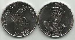 Tonga 10 Seniti 2005. FAO  High Grade - Tonga