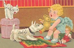 Kinderkaart / Fantasiekaart, Teddybeer Poes Hond - Speelgoed & Spelen