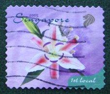 1st Local Greetings Flower Fleur Blumen 2005 Mi 1392 Used Gebruikt Oblitere SINGAPORE SINGAPUR - Singapur (1959-...)